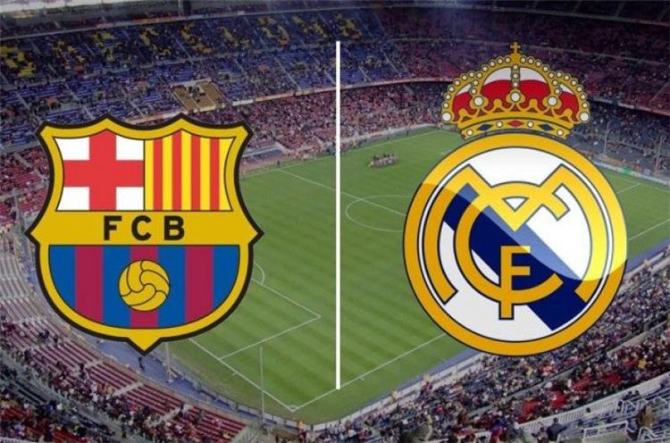 برشلونة وريال مدريد في مباراة الكلاسيكو