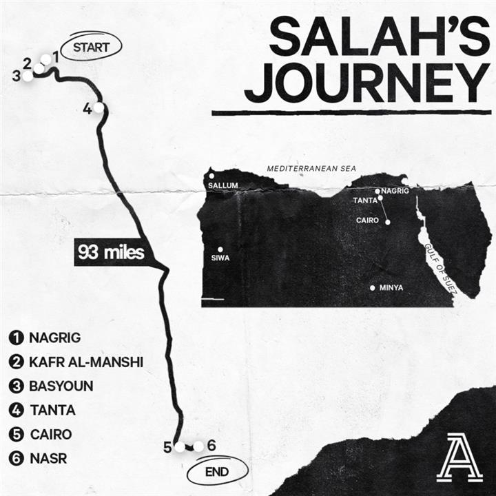 طريق السفر بين نجريج وحتى العاصمة القاهرة