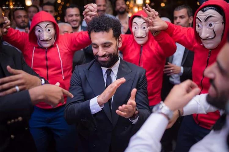 محمد صلاح في حفل زفاف شقيقه