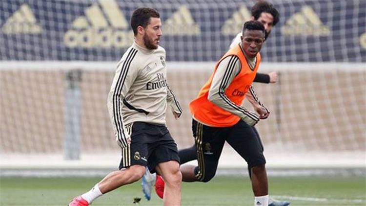 إيدين هازارد في تدريبات ريال مدريد
