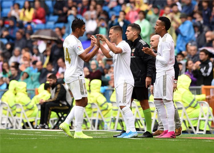 ادين هازارد وكاسيميرو مع ريال مدريد