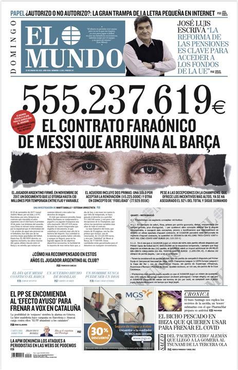 غلاف صحيفة الموندو