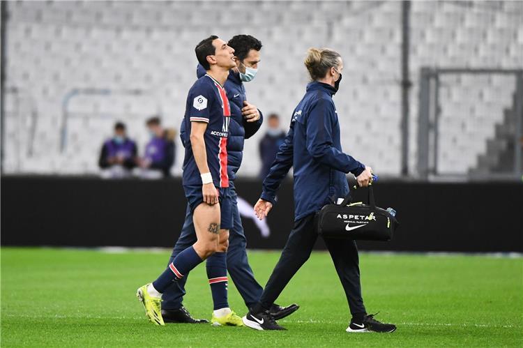 إصابة دي ماريا في مباراة باريس سان جيرمان ومارسيليا