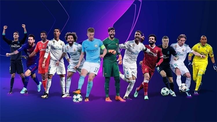 التشكيلة المثالية لدوري ابطال اوروبا 2017 2018