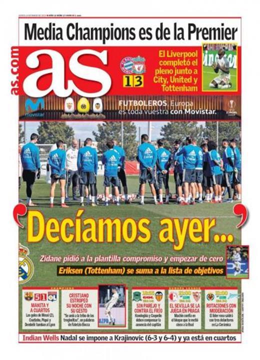 غلاف صحيفة آس