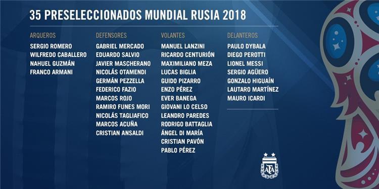 سامباولي يعلن قائمة الأرجنتين المبدئية لكأس العالم بطولات