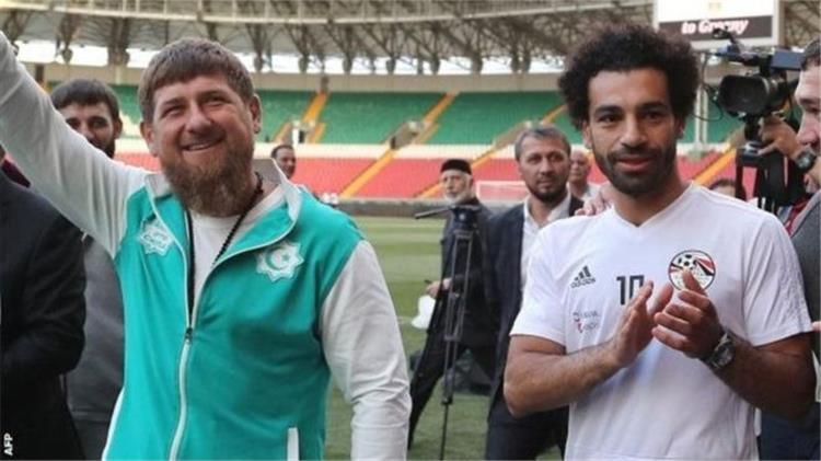 محمد صلاح ورئيس الشيشان