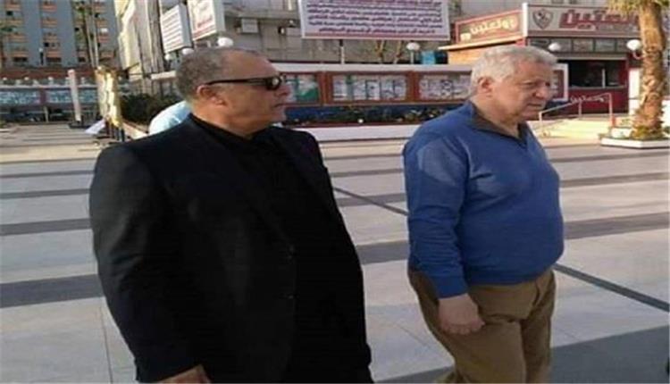 نتيجة بحث الصور عن مرتضي منصور وهاني ابو ريدة