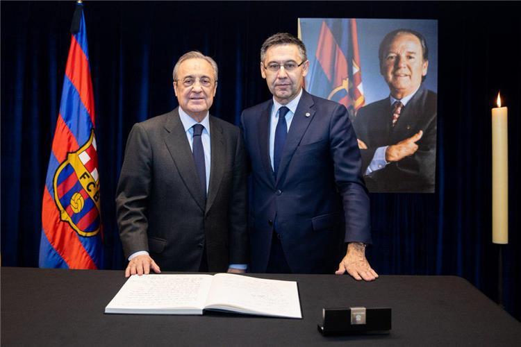 رئيس ريال مدريد يتواجد في برشلونة