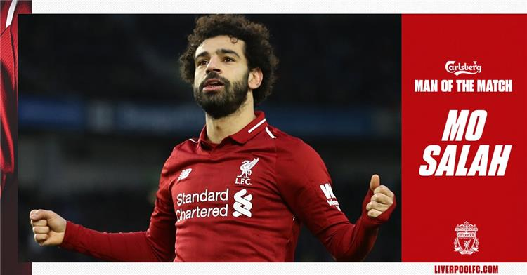 Salah gets the best player in the Brighton game by voting the public 1