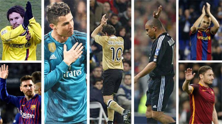 10 لاعبون أجبروا جماهير الخصم على التصفيق لهم ميسي ورونالدو في المقدمة