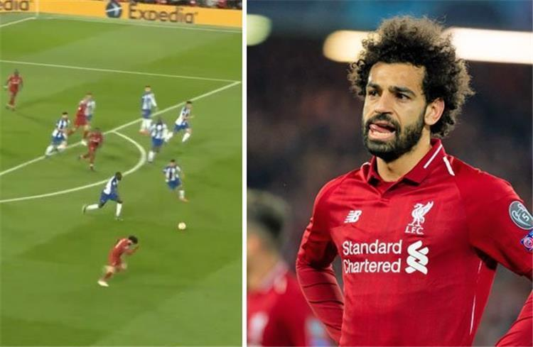 liverpool fans pay tribute to mohamed salah's defense against porto in the champions league