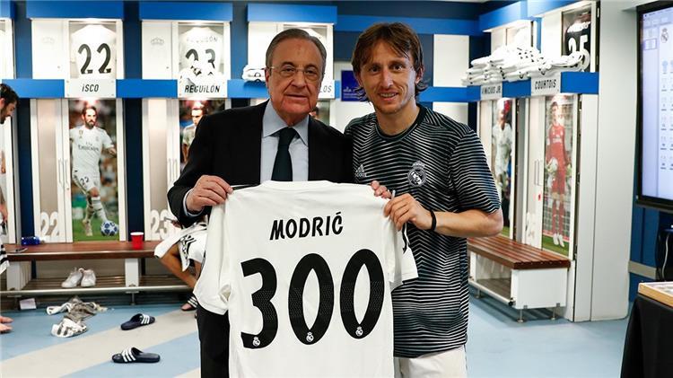 مودريتش بعد وصوله للمباراة 300 مع ريال مدريد: آمل أن ألعب 100 مواجهة أخرى