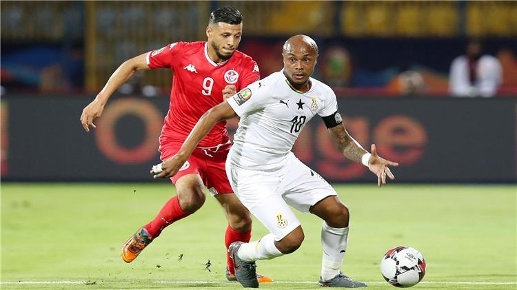 أيو وأنيس البدري من مباراة غانا وتونس