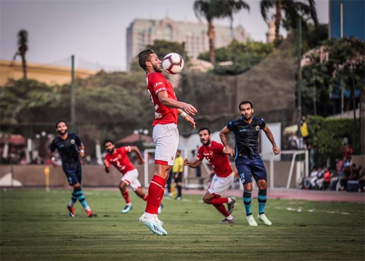 رمضان صبحي في مباراة الأهلي والبلاستيك