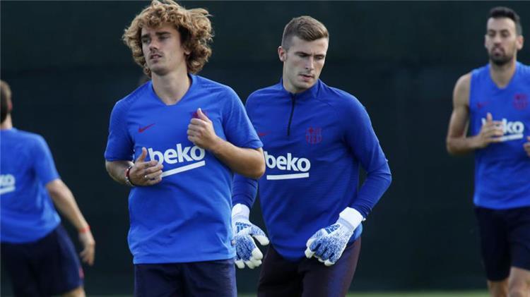 جريزمان في تدريبات برشلونة