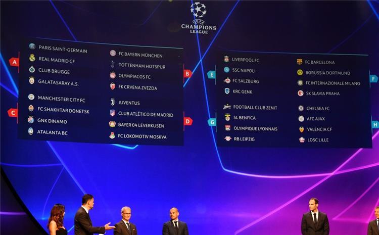 تعرف على مواعيد مباريات دور المجموعات من دوري ابطال اوروبا - بطولات