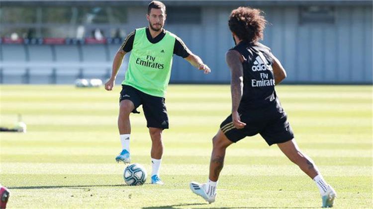 هازارد مارسيلو في تدريبات ريال مدريد