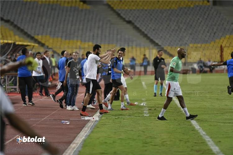 لاعبي الزمالك في مباراة بيراميدز بنهائي كأس مصر