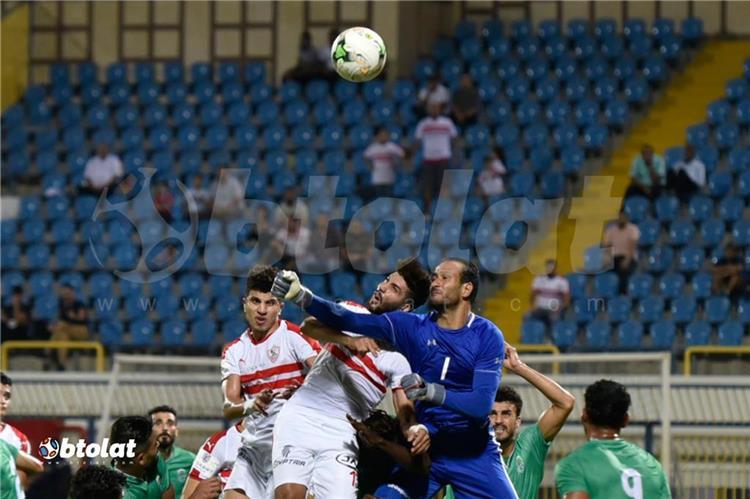 محمد عبد الغني في مباراة الزمالك والاتحاد