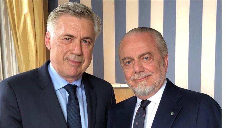 كارلو انشيلوتي ورئيس نابولي