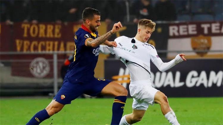 من مباراة روما وولفسبرجر