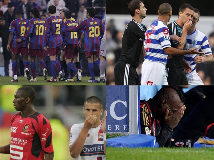 بعض حالات العنصرية في كرة القدم الاوروبية
