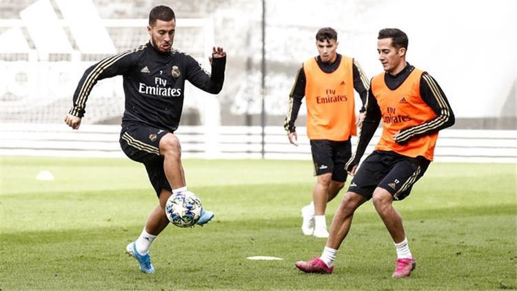 لوكاس فاسكيز وهازارد في تدريبات ريال مدريد اليوم
