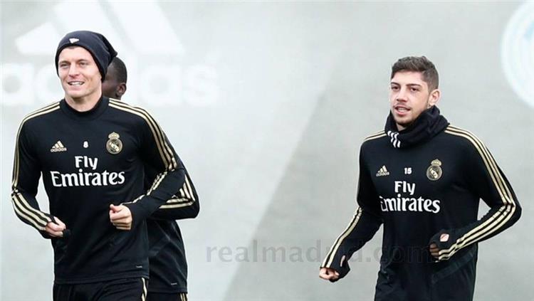 جانب من تدريبات ريال مدريد اليوم