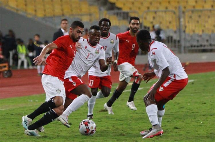 جانب من مباراة مصر وكينيا