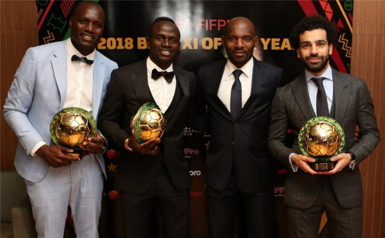 محمد صلاح وماني في حفل جوائز افضل لاعب افريقي 2018