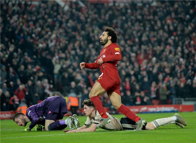 لحظة هدف محمد صلاح في مرمى مانشستر يونايتد