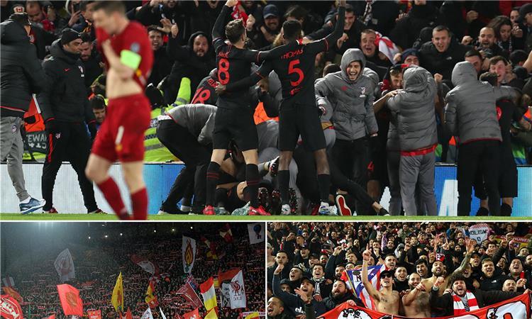 من مباراة ليفربول واتلتيكو مدريد