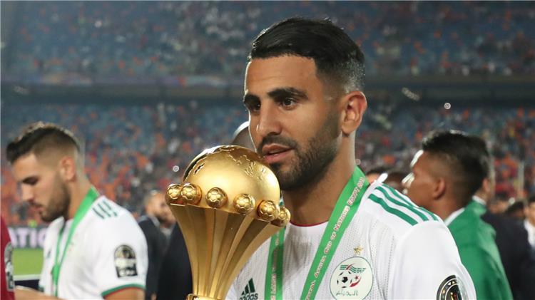 محرز مع كأس امم افريقيا 2019