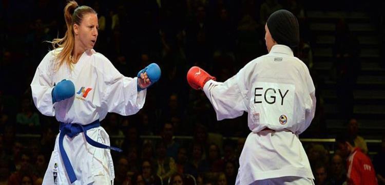 لاعبة منتخب مصر للكاراتيه
