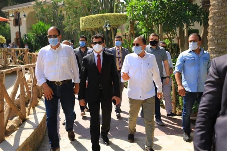 زيارة أشرف صبحي لـ وادي دجلة