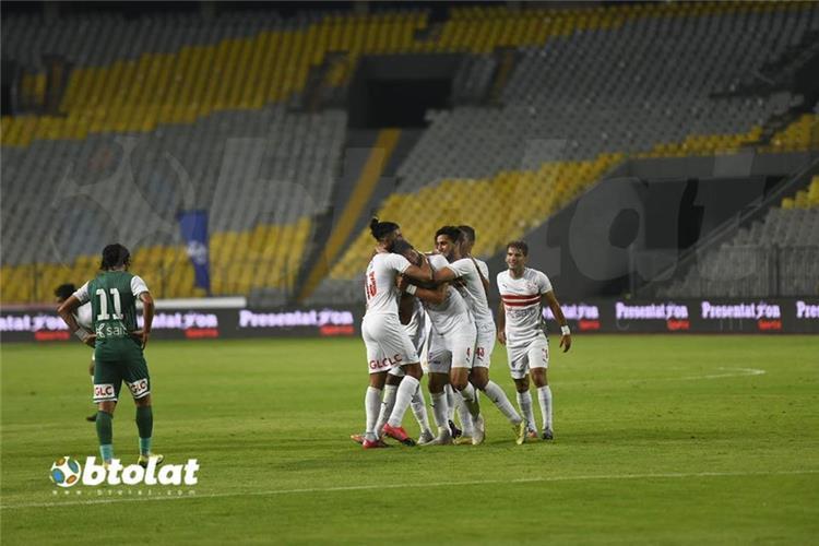 محمود علاء بعد إحراز الهدف