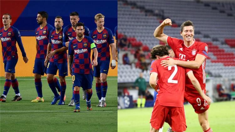 برشلونة وبايرن ميونخ يلتقيان في دوري أبطال أوروبا