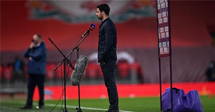 أرتيتا: لا يمكن الضغط على ليفربول في وجود فان دايك ومحمد صلاح