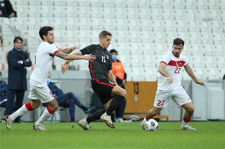 من مباراة تركيا وكرواتيا الودية