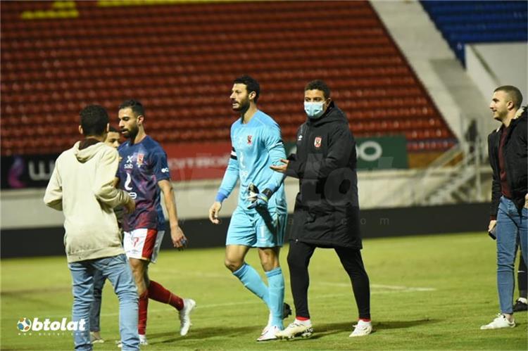 محمد الشناوي في مباراة البنك الأهلي