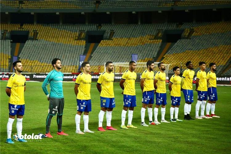 فريق الاسماعيلي من مباراة الاهلي في الدوري