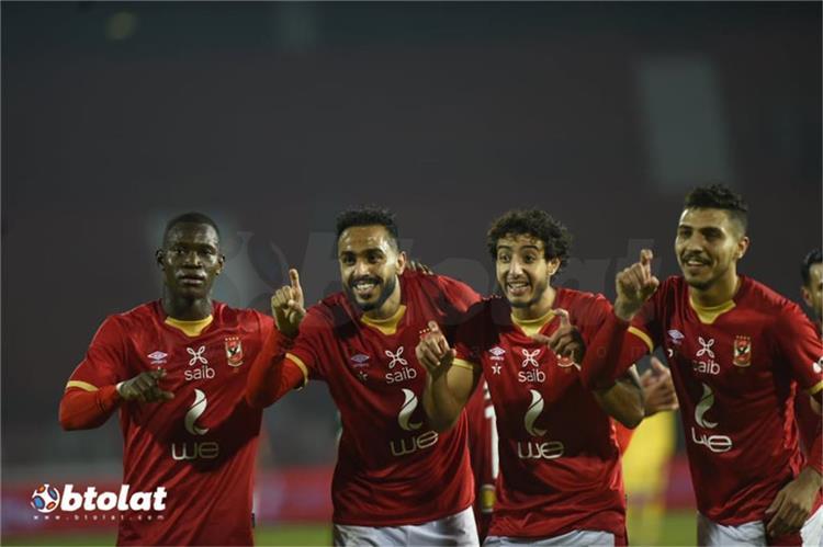 محمد شريف ومحمد هاني وكهربا واليو ديانج من مباراة الاهلي وغزل المحلة بالدوري