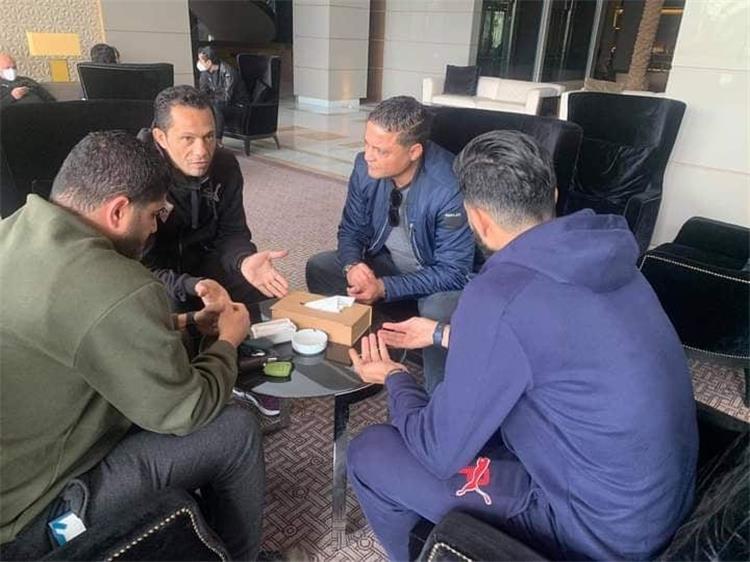 يامن بن ذكري ووسام العابدي في جلسة مع عبد الحليم علي وساسي