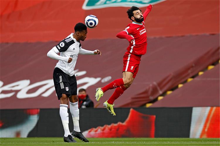 محمد صلاح خلال مباراة فولهام