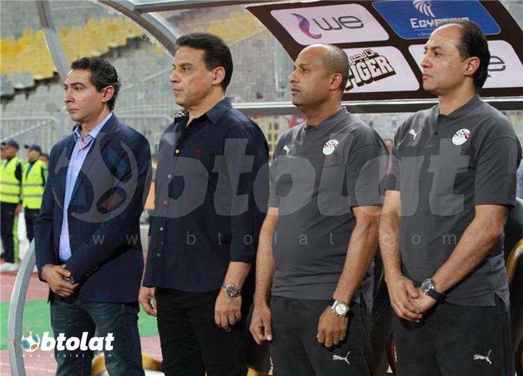 أحمد أيوب والجهاز الفني لمنتخب مصر
