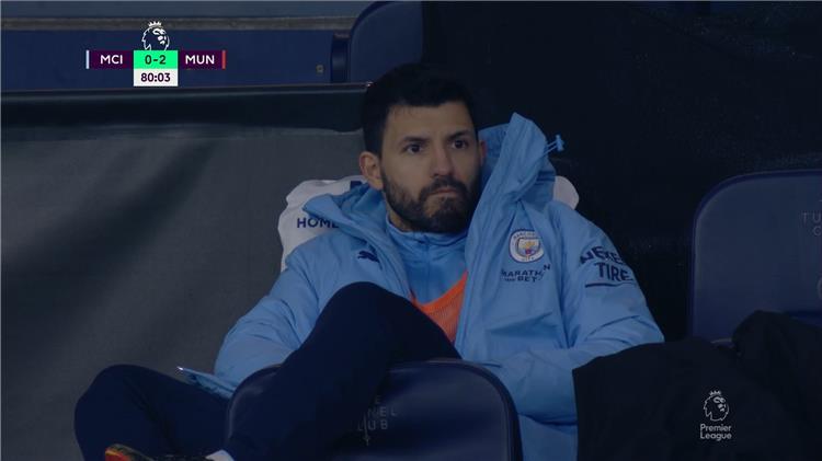 جوارديولا عن عدم مشاركة أجويرو أمام مانشستر يونايتد: ربما أخطأت!