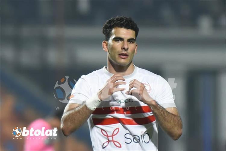 احمد سيد زيزو من مباراة الزمالك والاتحاد السكندري في الدوري المصري