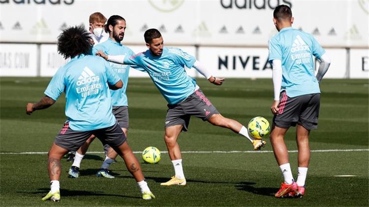 هازارد في تدريبات ريال مدريد