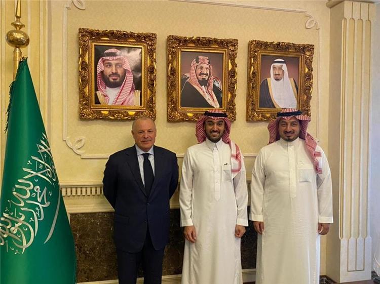 هاني ابو ريدة وسمو الأمير عبد العزيز بن تركي الفيصل ووليد المسحل